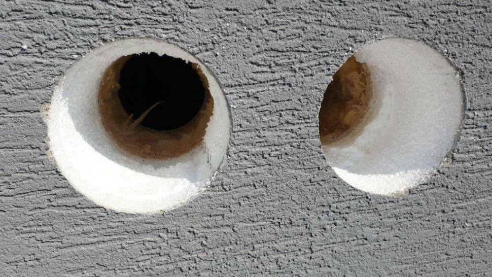 Montážne diery cez stenu pre Meltem